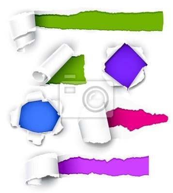 Kolekcja kolorowego papieru. Ilustracja wektorowa