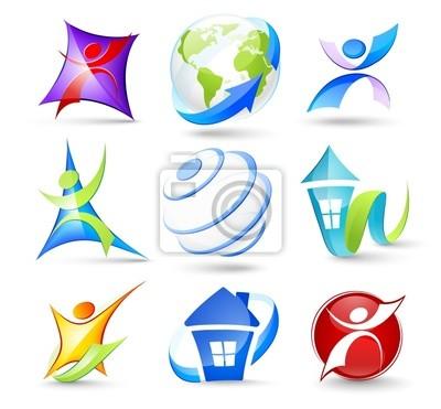 Kolekcja kolorowych ikon