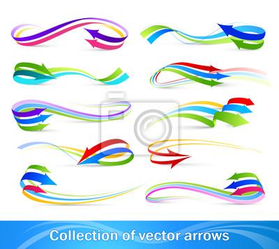 Kolekcja kolorowych strzałek