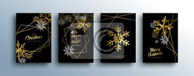 Kolekcja luksusowych złotych kart okolicznościowych