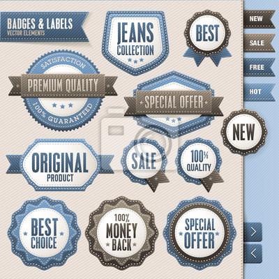 Kolekcja odznak wektorowe i etykiet