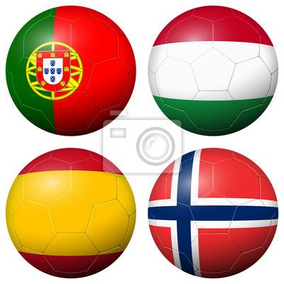 Kolekcja piłek piłkarskich - Flagi państw