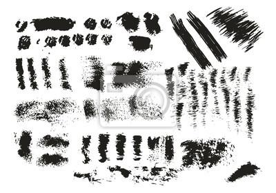 Kolekcja ręcznie rysowane plamy tuszu, kropki, plamy. Wektor. Odosobniony. Pędzel tekstura