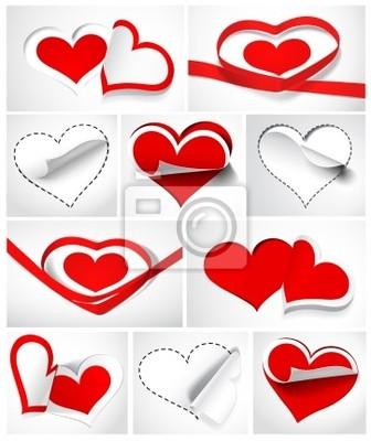 Kolekcja serca. Ilustracja wektorowa