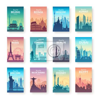 Kolekcja słynnych scapes miasta.