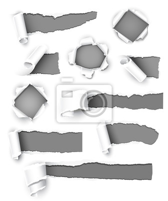 Kolekcja szary papier. Ilustracja wektorowa
