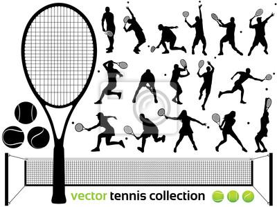 Naklejka Kolekcja Tenis Vector - tenisiści ... (High detail)