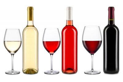 Naklejka kolekcja wina