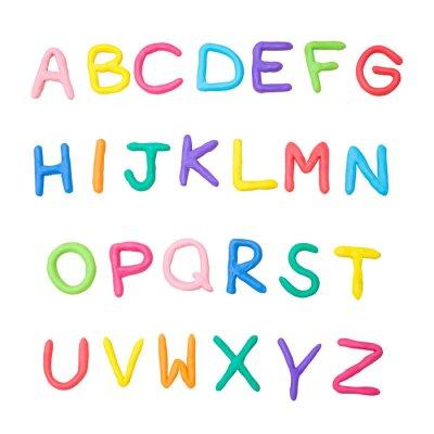 Naklejka kolorowe alfabetu od A do Z