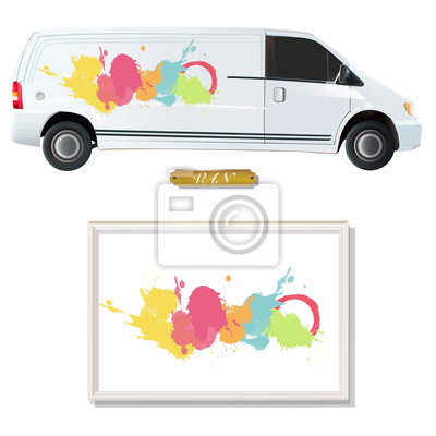 Kolorowe farby drukowane na vana.
