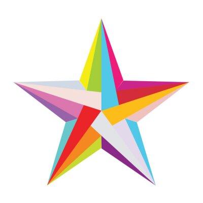 Naklejka kolorowe gwiazdki
