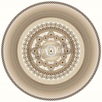 Naklejka Kolorowe Henna Mandala design