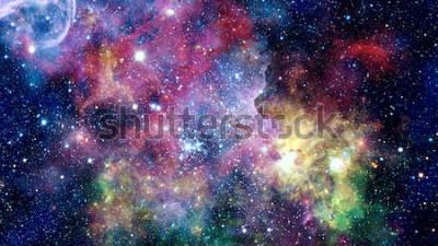 Naklejka Kolorowe mgławice, galaktyki i gwiazdy w kosmosie. Elementy tego obrazu dostarczone przez NASA.