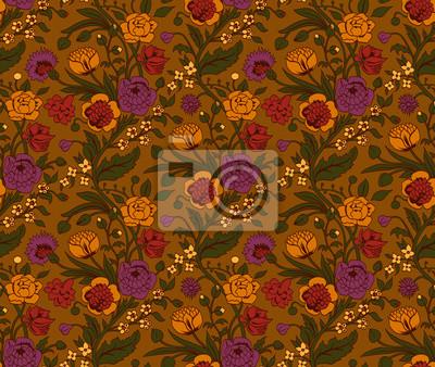 Kolorowe szwu z rocznika bukiety kwiatów