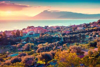 Naklejka Kolorowe wiosny słońca w miejscowości Solanto
