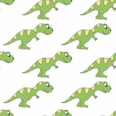 Kolorowy dinozaur bez szwu wektor wzór. Ładne tło rex
