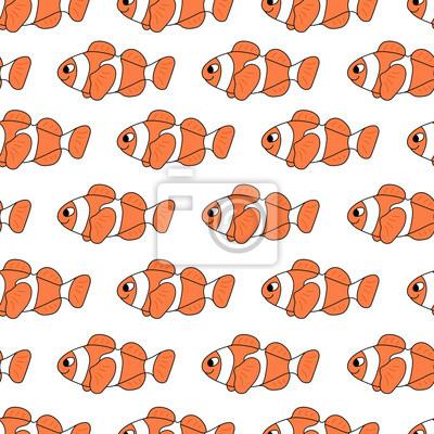 kolorowy klaun ryba wzór