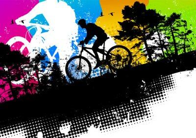 Naklejka Kolorowy rower górski abstrakcyjny