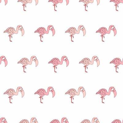 Kolorowy śliczny różowy flaminga bezszwowy wzór dla dziewczyny i chłopiec. Ładny wydruk w tle