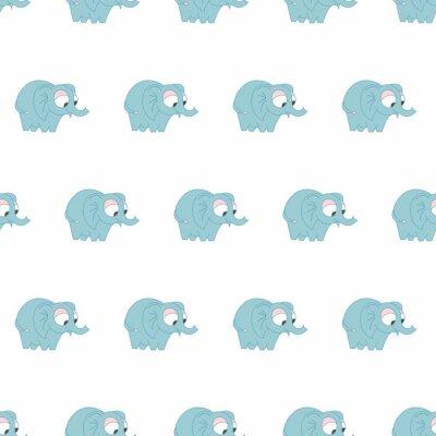 Kolorowy śliczny słonia bezszwowy wzór dla dziewczyny i chłopiec. Ładny wydruk w tle