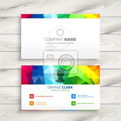 Kolorowy wizytówka