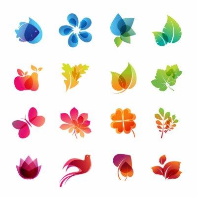 Kolorowy zestaw ikon charakter