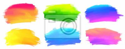 Naklejka Kolory żywe spektrum wektor farby akrylowe plamy