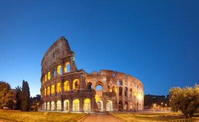 Naklejka Koloseum w nocy .Rome - Włochy