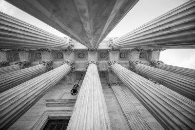 Naklejka Kolumny w amerykańskim Sądzie Najwyższym