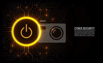 Naklejka Koncepcja bezpieczeństwa cybernetycznego.