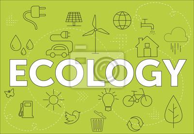 Naklejka Koncepcja ekologii