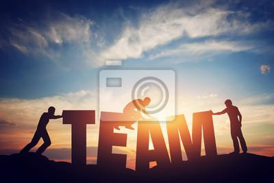 Naklejka Koncepcji pracy zespołowej