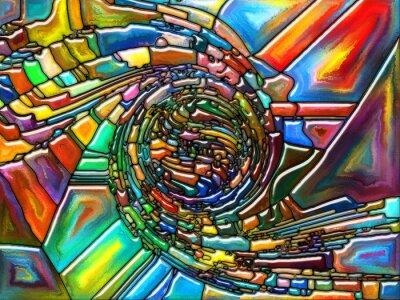 Naklejka koncepcyjne Fragmentacja