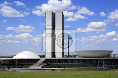 Naklejka Kongres Narodowy Brazylii.
