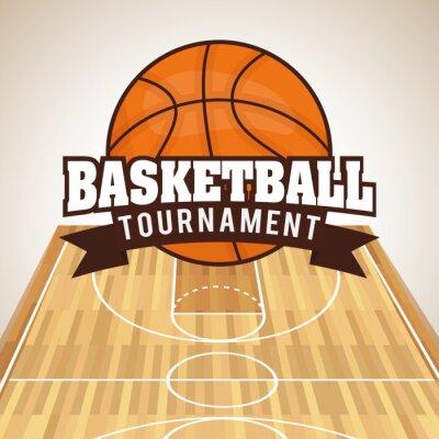 Naklejka Konstrukcja do koszykówki
