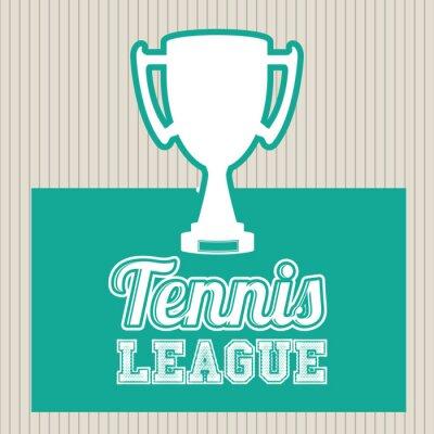 Naklejka Konstrukcja ligi tenisa