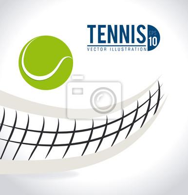 Naklejka Konstrukcja Tenis, ilustracji wektorowych.