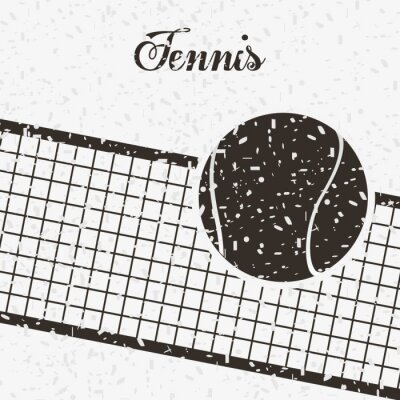 Naklejka Konstrukcja tenisa sportu