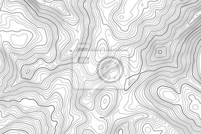 Naklejka Konturowa mapa topograficzna tło wektor. Streszczenie tło mapy topografii i geografii siatki. Pomysł na biznes. Ilustracji wektorowych