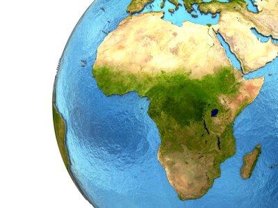 Naklejka Kontynent afrykański na Ziemi