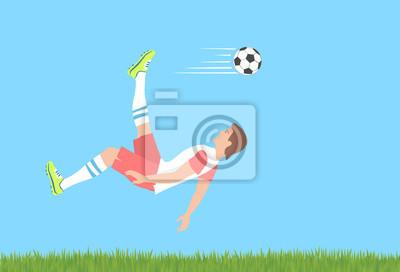 Kopnięcie piłki nożnej.