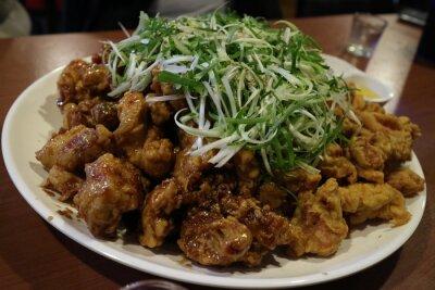 Naklejka Korea Chicken Welsh onion
