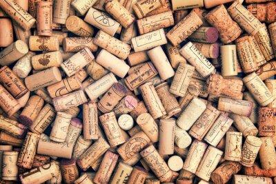 Naklejka Korki wina w tle