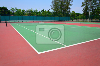 Naklejka kort tenisowy
