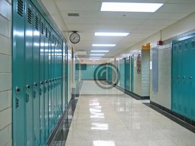 Naklejka korytarz szkolny