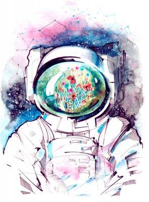 Naklejka kosmos