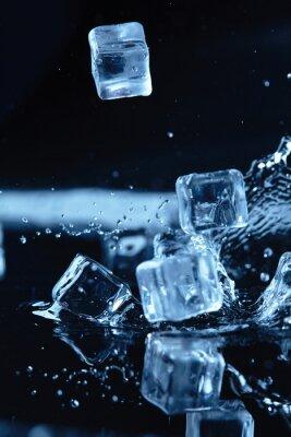 Naklejka kostki lodu z wody powitalny