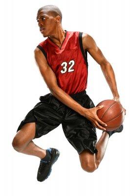 Naklejka Koszykarz Dunking Ball