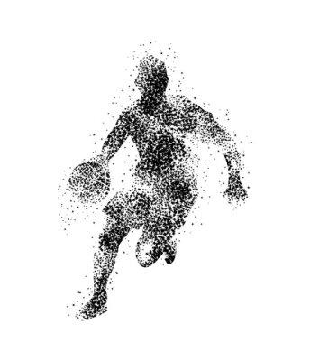 Naklejka koszykarz, sylwetka