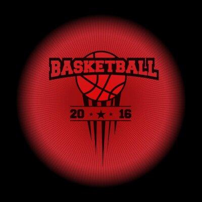 Naklejka koszykówka, logo sportowych. godło Pojawiające się z ciemności. Idealne na swojej czarnej koszuli! wektor